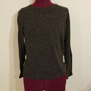 Gray sweater with elbow patches
